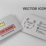 Peter Gurke Business Card Template Vector