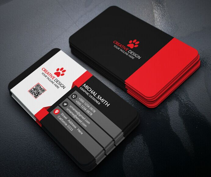 Free Modern Corporate Business Card Design PSD TitanUI