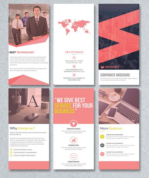 Free corporate trifold brochure psd template titanui for Trifold brochure template psd