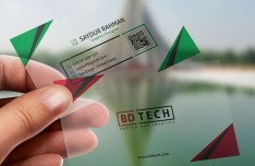 Translucent Plastic Business Card PSD Template