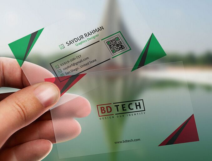 Free translucent plastic business card psd template titanui for Plastic business card template