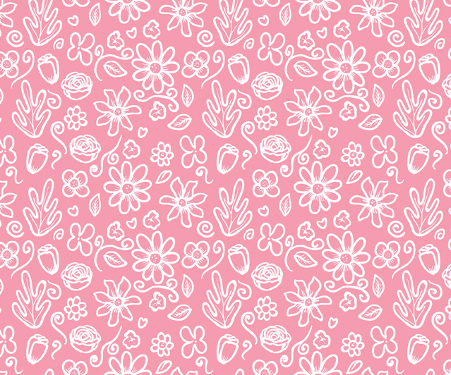 50983 Seamless Pink Flower Pattern Vector on clothing infographic