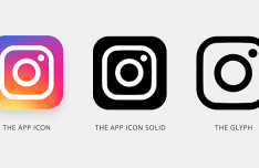 Instagram New App Icon Template PSD