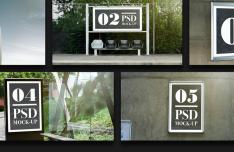 5 Outdoor Advertising Mockups PSD