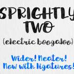 Sprightly Two Brushed Font