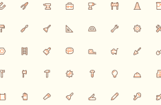 40 Tool Icons (PNG+SVG+Vector)