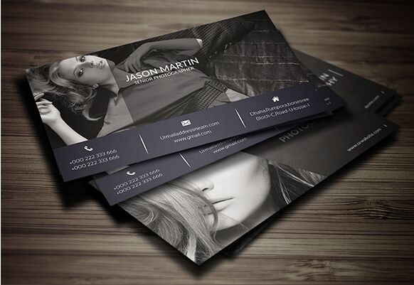 Free Print Ready Photography Business Card Template PSD