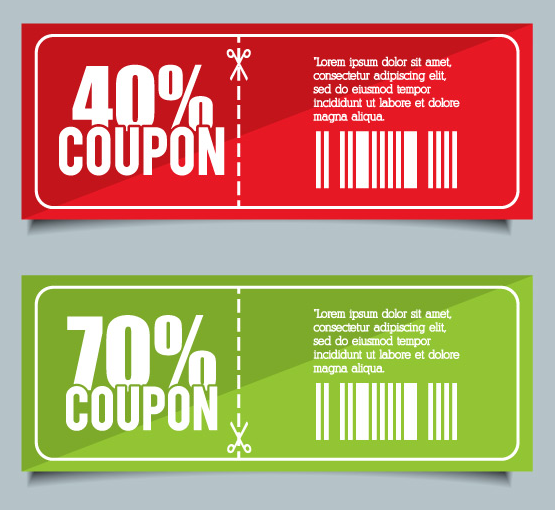 Free 2 Flat Coupons Vector Titanui