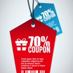 Red / Blue Coupon Tags Vector