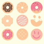 9 Donut Vector Icons
