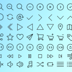 56 iOS Style Line Icons Vector