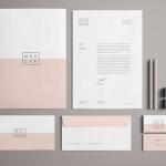 High Solution Pink Branding / Stationery Mockup PSD