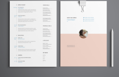 Minimal 4 Pages Resume Template