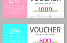 2 Sweet Gift Voucher Vector Templates