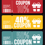 3 Folded Coupon Templates Vector