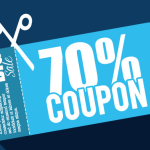 Flat 70% Coupon Big Save Vector