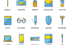 25 Office Icons PNG