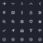35 Minimal Web Line Icons Vector