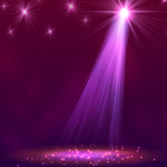 Graceful Stage Spotlight Vector #2