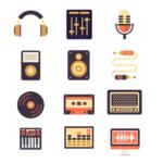 12 Sound / Audio Icons Vector