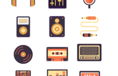 12 Sound Audio Icons Vector