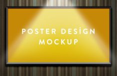 Free Poster Mockups Download