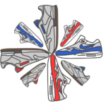 20 Sneaker Icons Vector