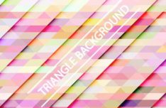 Gradient Triangle Vector Background 08