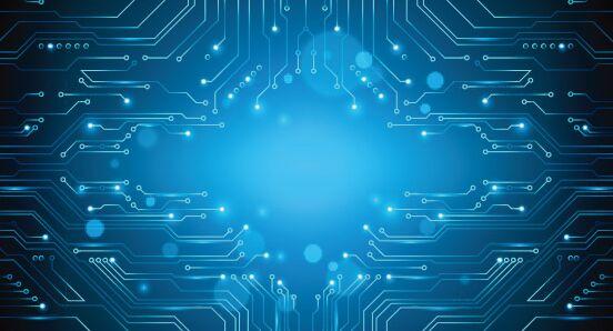 Tree Design On Circuit Board Wallpaper Vector Image: Free Blue Circuit Board (PCB) Vector Background