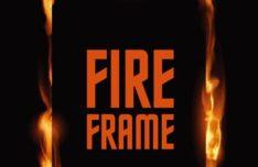 Standing Fire Frame Vector Template