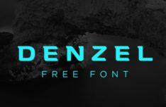 Denzel Geometric Font