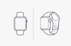 Minimal Apple Watch Vector Template