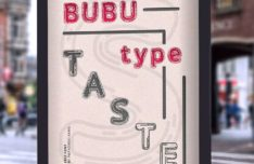 BUBU Filled & Outline Typeface