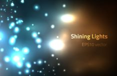Shining Lights Bokeh Vector Background #2