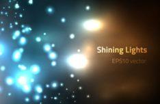 Shining Lights Bokeh Vector Background #2