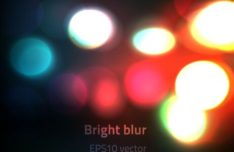 Shining Lights Bokeh Vector Background #3