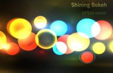 Shining Lights Bokeh Vector Background #4