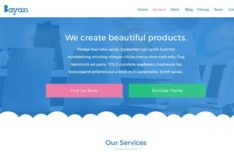 Bayan Blue Agency Web Template PSD
