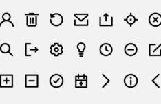 21 Web UI Line Icons Vector