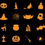 30+ Halloween Icons PSD
