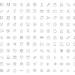 130+ Vector Thin Line Icons