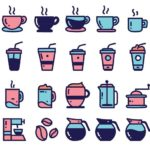 20 Coffee Icons Vector