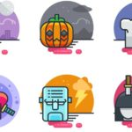 20 Colorful Halloween Icons (PNG+PSD+Sketch+Vector)