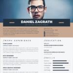 Minimal Elegant Resume / CV Vector Template