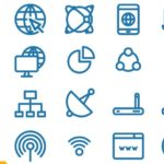 20 Internet Icons Vector