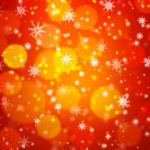 Bokeh Snowflake Vector Background #1