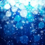 Bokeh Snowflake Vector Background #2