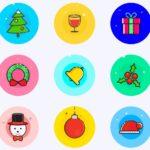 9 Christmas Vector Icons