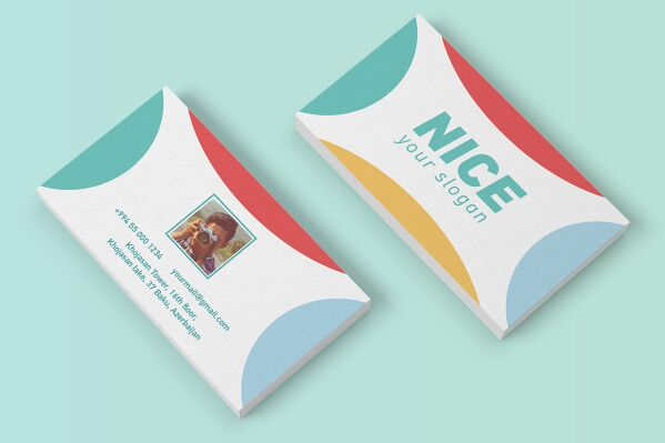 Free Pretty Nice Business Card Vector Template TitanUI