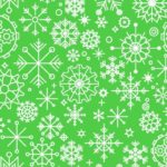 Seamless Snowflake Vector Pattern
